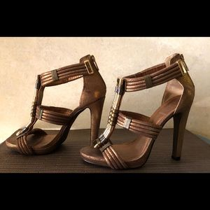 Tory Burch gold heels